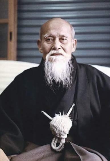 O Sensei, the founder of Aikido